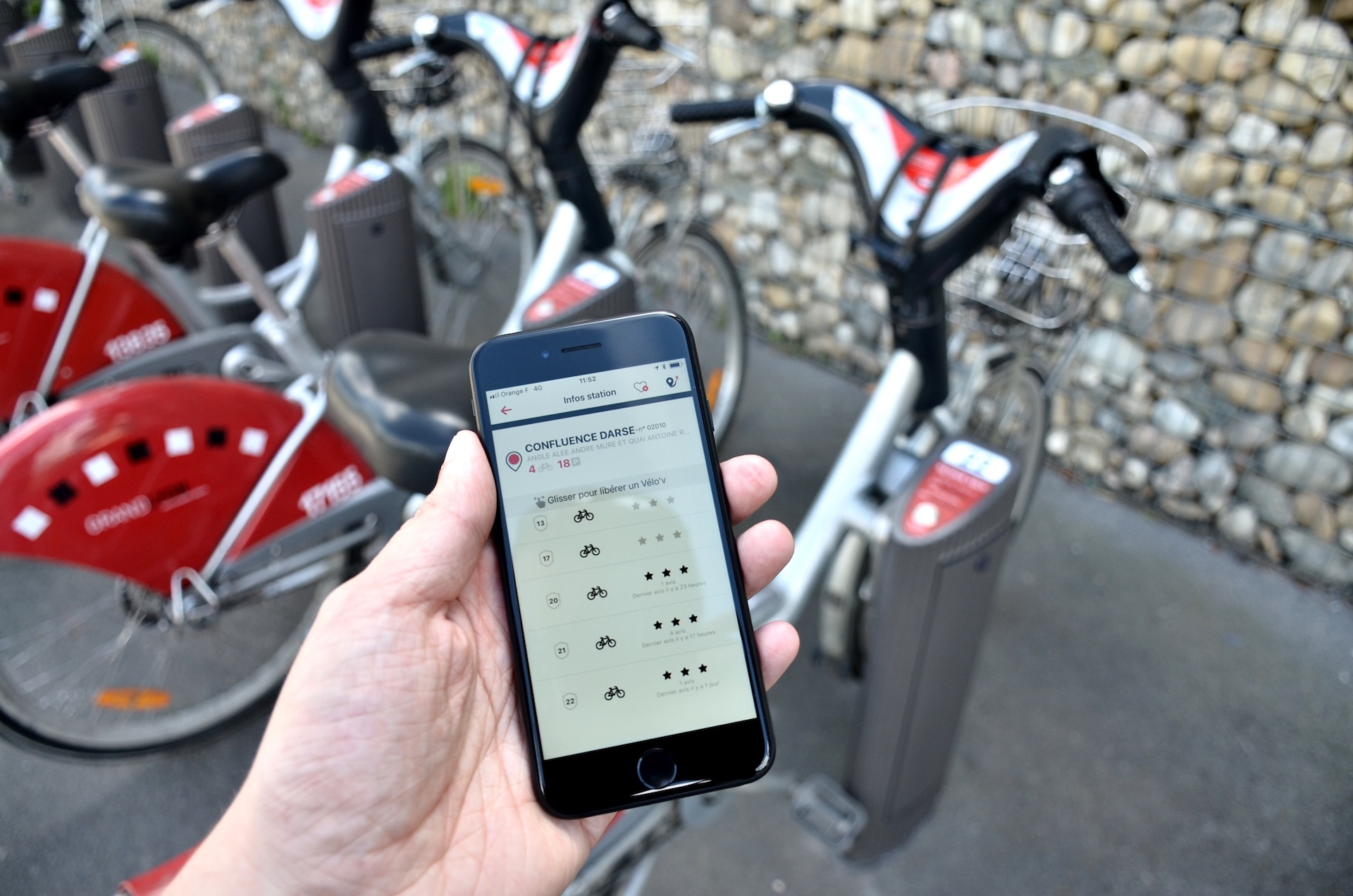 Vélo'v app