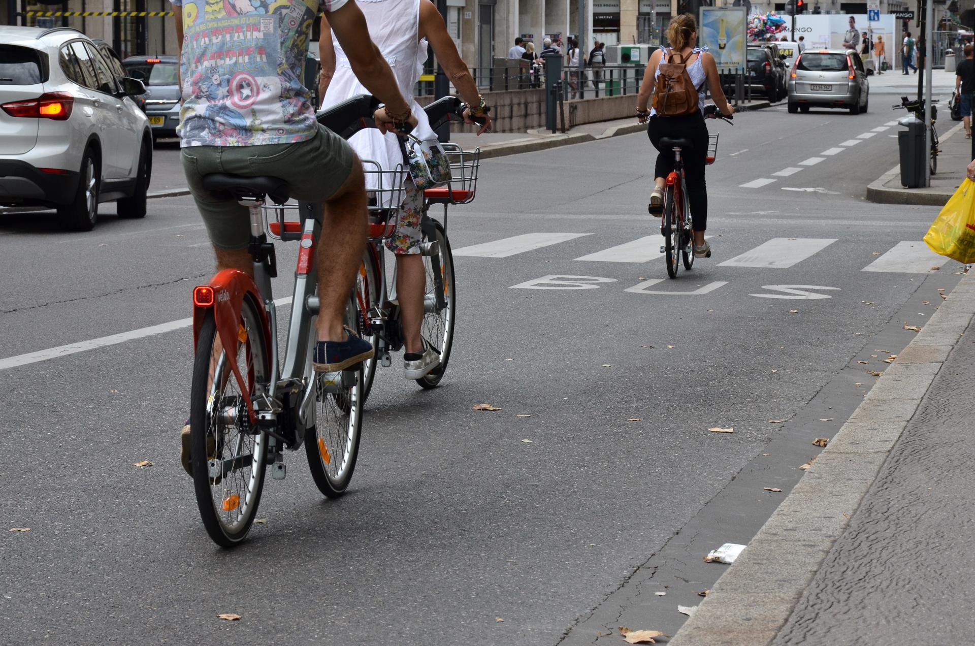 Vélo'v sur route