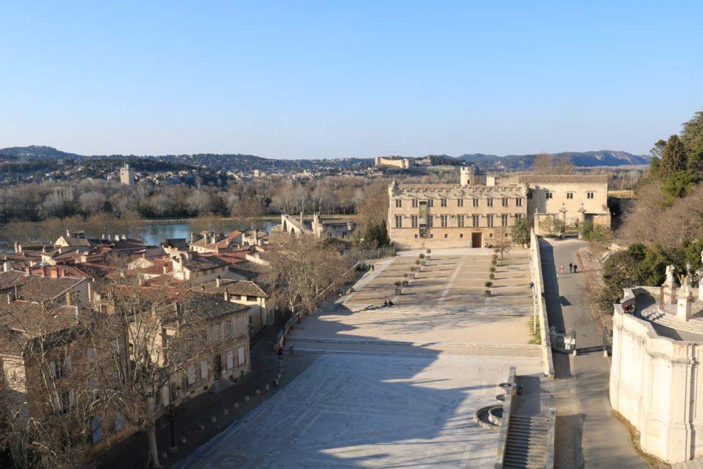 Musée et Pont d'Avignon vu du Palais des Papes