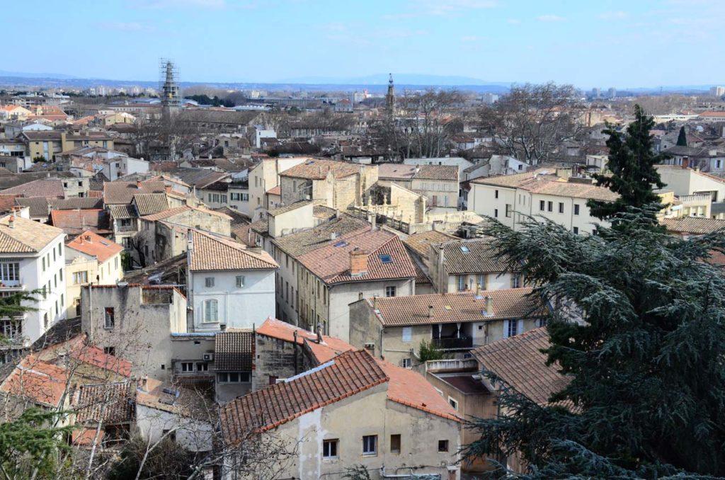 Avignon vue du Jardin des Doms