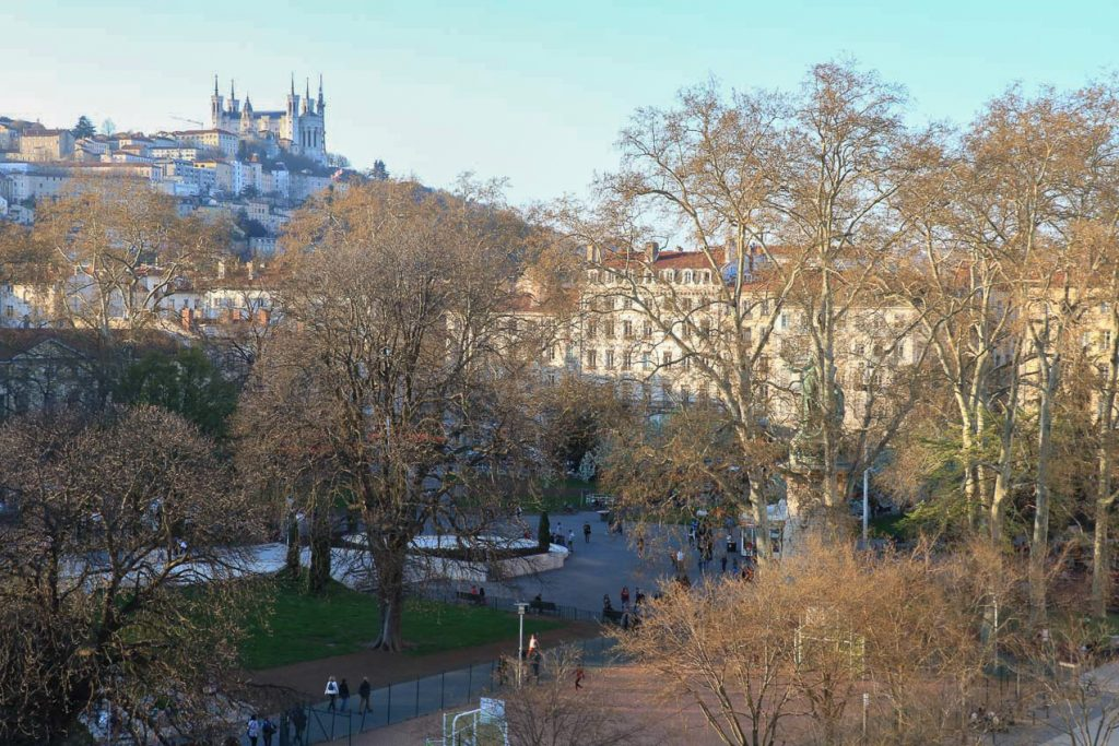Jardins Suspendus vue sur Fourvière
