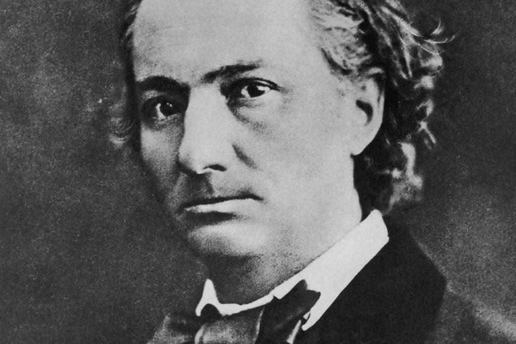 Portrait noir et blanc de Charles Baudelaire