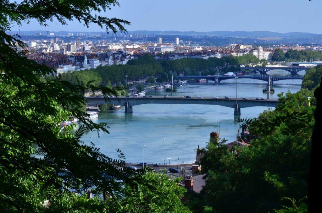 Vue du Pont Morand à partir de la Montée Rater