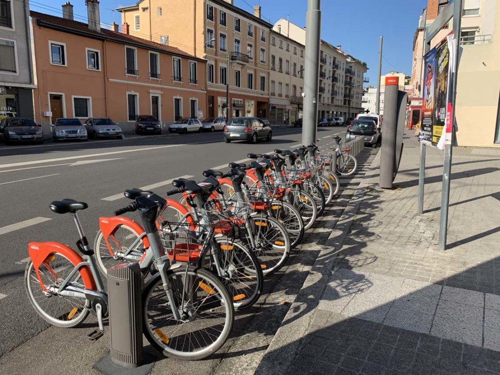 Station Vélo'v bien remplie