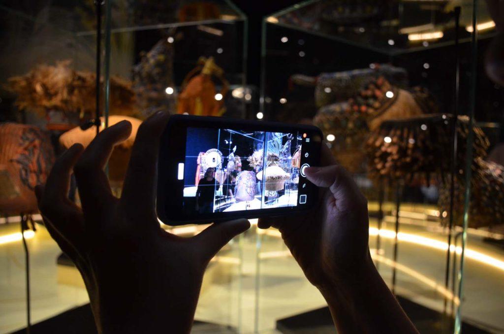 Gros plan sur un smartphone en mode photo