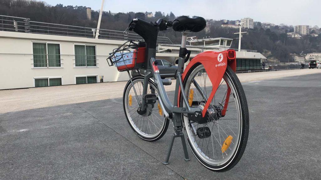 Vélo'v électrique : vue arrière