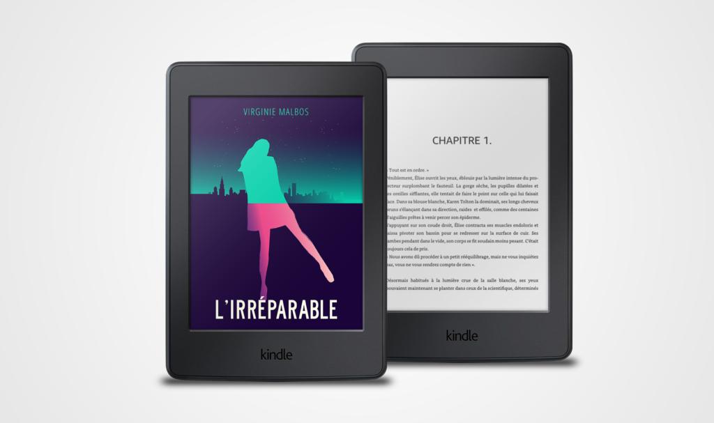 Roman l'Irréparable sur liseuse Kindle