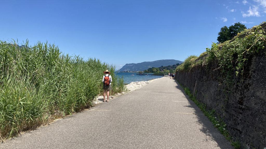 Chemin cyclable et piéton reliant Aix au Bourget du Lac
