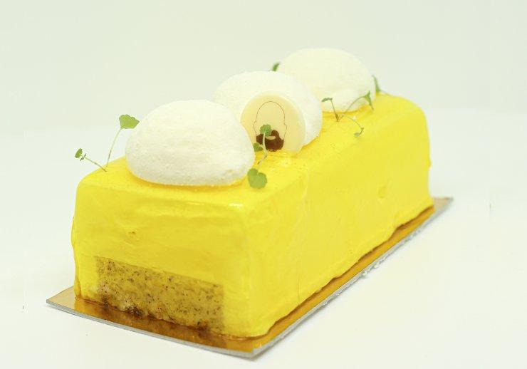 Citon, yuzu, citron vert et noisette pour la bûche Citronnier de Mariller les saveurs