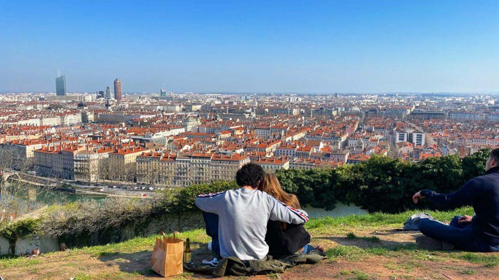 Vue du Jardin des Curiosités à Lyon