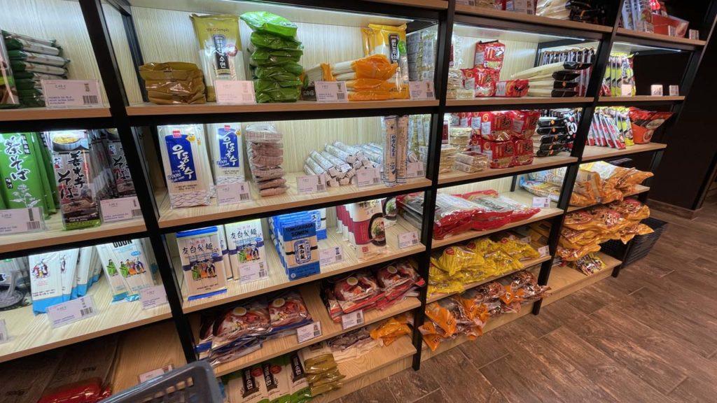 Rayon nouilles aux Halles du Japon à Lyon