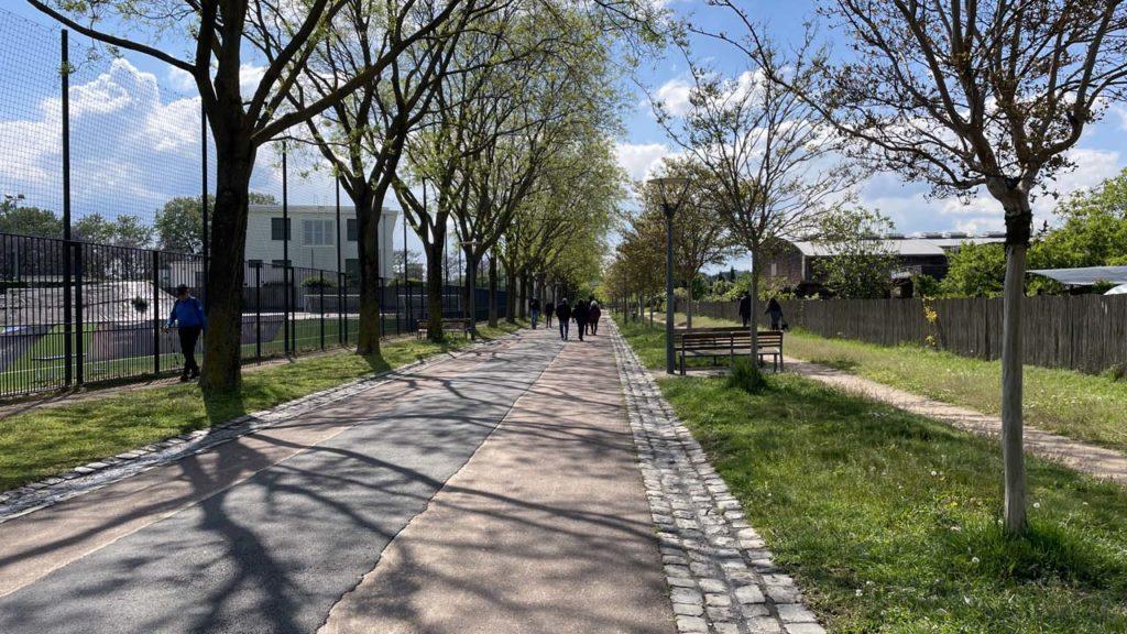Parc de Gerland : une allée