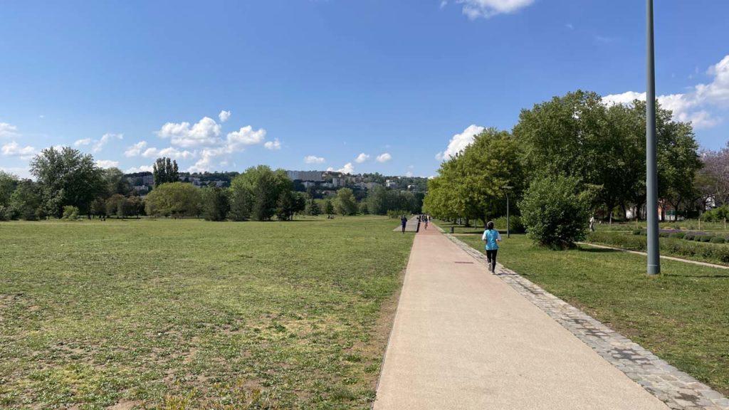 Parc de Gerland : vue au loin